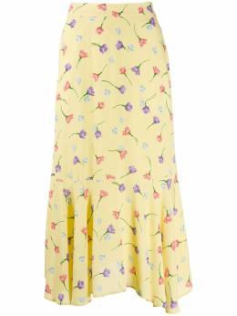 Markus Lupfer юбка миди с цветочным принтом SK472