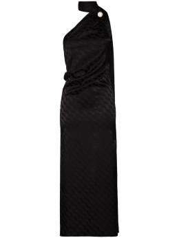 The Attico платье миди с асимметричным подолом 202WCW20
