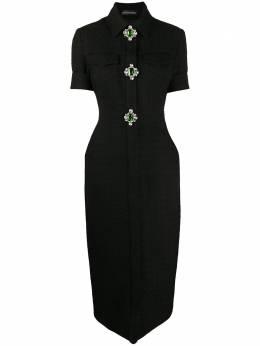 David Koma декорированное трикотажное платье AW20DK07D