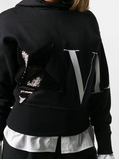 Valentino худи с логотипом VLTN и пайетками UB3MF06D5M3 - 5