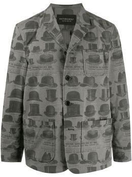 Viktor & Rolf однобортный пиджак с принтом Hat MMB0110867