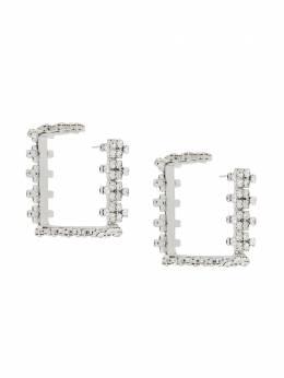 Area серьги-кольца с кристаллами PF20A04SILVER