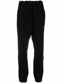 Masnada брюки в тонкую полоску с эластичными манжетами 6923R