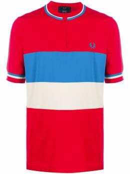 Fred Perry полосатая рубашка поло без воротника K981535COTTONH79