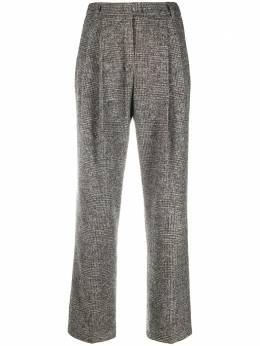 Agnona твидовые брюки со складками T70008Q1021