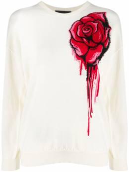 Boutique Moschino джемпер с круглым вырезом и цветочным узором A09116100