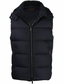 Moorer quilted hooded gilet A20M080SHWKBLU
