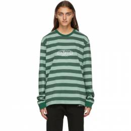 Noon Goons Green Stripe Jalama Long Sleeve T-Shirt NGFW20-051