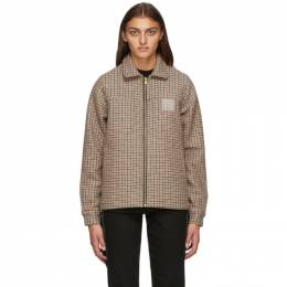 Noon Goons Brown Houndstooth Club Jacket NGFW20-018