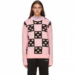Noon Goons Pink and Black Lovers Sweater NGFW20-027
