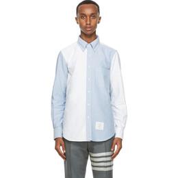 Thom Browne Blue and White Oxford Funmix Shirt MWL272F-06177