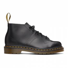Dr. Martens Black Leather Church Monkey Boots 26256001