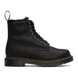 Dr. Martens Black 1460 Pascal Faux Fur Lined Boots 25533001