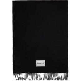 Moncler Black Large Wool Scarf F20933C71200A0146