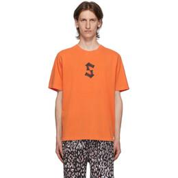 Stolen Girlfriends Club Orange Painted S T-Shirt C2-20T001P-G