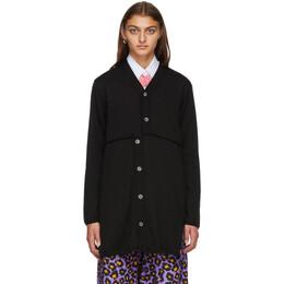 Comme Des Garcons Homme Plus Black Wool Long Cardigan PF-N019-051