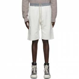 Rick Owens DRKSHDW Off-White and Grey Pusher Shorts DU20F1383 FMR