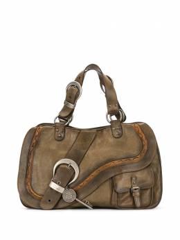 Christian Dior сумка-тоут Gaucho pre-owned DIORSADDLEBAGLIGHTBROWN