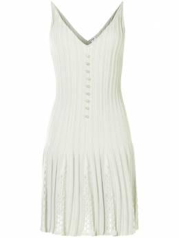 Chanel Pre-Owned трикотажное платье с плиссировкой P43879K04503