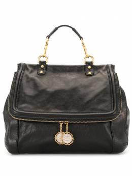 Dolce&Gabbana Pre-Owned сумка-тоут с подвесками DOLCEGABBANAFLAPSHOULDERBAGWITHGOLDHARDWARE