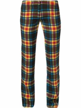 Versace Pre-Owned клетчатые брюки кроя слим A1KBC10016526