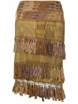 Gucci Pre-Owned tassel net skirt 143705ZL7380309