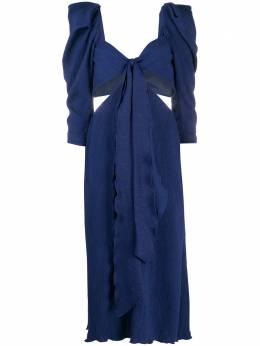 Johanna Ortiz платье с вырезом и оборками V2258CP