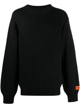 Heron Preston свитер с нашивкой-логотипом HMHE006F20KNI0021001