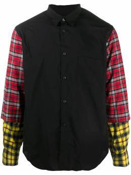 Comme Des Garcons Homme Plus checked sleeve cotton shirt PFB0201