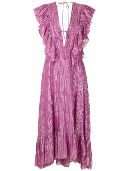 Reinaldo Lourenco платье миди с оборками 23230160