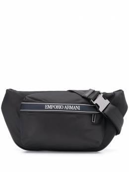 Emporio Armani поясная сумка с вышитым логотипом Y4O263YJI6J