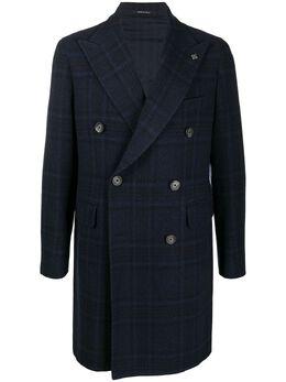 Tagliatore двубортное пальто в клетку CSBL10B52QIC051B1365