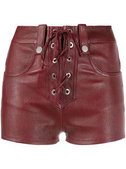 Manokhi кожаные шорты Alys AW20MANO219A556BURGUNDYLACE
