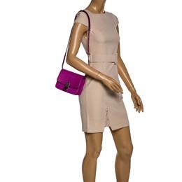Celine Purple Python Small Classic Box Flap Bag 324879