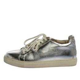 Sophia Webster Metallic Silver Leather Bibi Butterfly Sneakers Size 37.5 325180