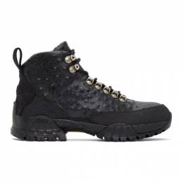 1017 Alyx 9Sm Black Ostrich Hiking Boots AAUBO0044LE01.F20