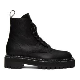 Proenza Schouler Black Lug Sole Combat Boots PS35113A 12110