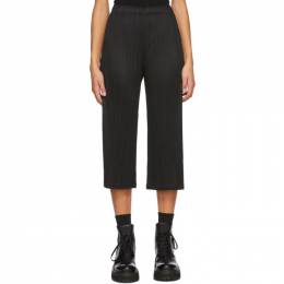 Pleats Please Issey Miyake Black Cropped Trousers PP08JF126