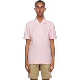 Thom Browne Pink 4-Bar Stripe Polo MJP110A-00050