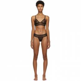 Gucci Black Tulle GG Lingerie Set 624777 XJBVY