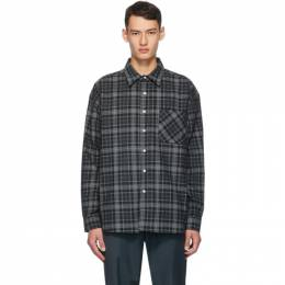 Noon Goons Black and Grey Corduroy Plaid Baseline Shirt NGFW20-041