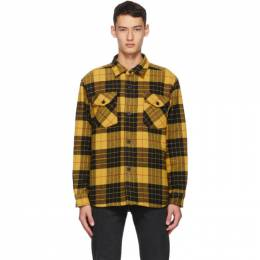 Noon Goons Black and Yellow Flannel Tartan Mullen Shirt NGFW20-021