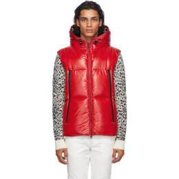 Moncler Red Down Quilted Vest F20911A51C0068950
