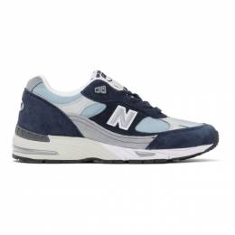 New Balance Navy Made In UK 991 Sneakers W991NBP