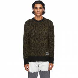 Golden Goose Green Alton Animalier Sweater GMP00548.P000170.3557