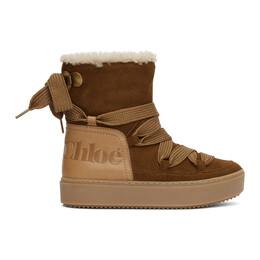 See By Chloe Tan Shearling Charlee Boots SB35151A 12231