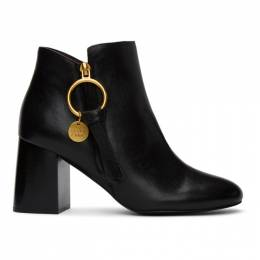 See By Chloe Black Louise Ankle Boots SB34132A 10001