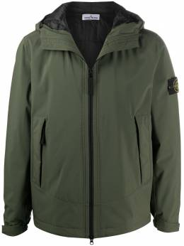 Stone Island куртка с капюшоном и нашивкой-логотипом 731541627
