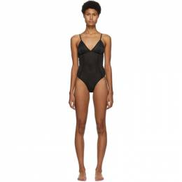 Fleur Du Mal Black Mesh Sporty Bodysuit BS0179