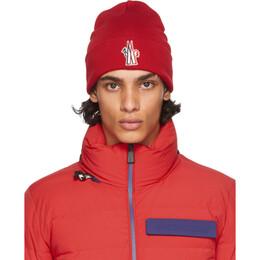 Moncler Grenoble Red Wool Logo Beanie F20973B1000009974